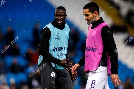 Benjamin Mendy of Manchester City and Ilkay Gundogan of Manchester City