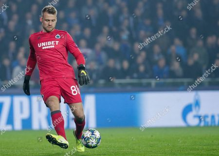 Simon Mignolet of Club Brugge in action during the UEFA Champions League group A match between Club Brugge and Paris Saint-Germain in Brugge, Belgium, 22 October 2019.