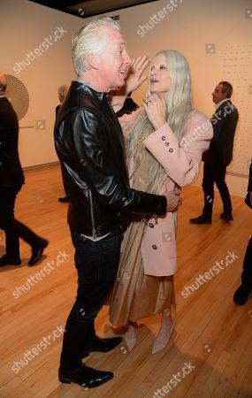 Philip Treacy and Kristen McMenamy