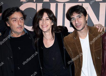 Yvan Attal, Charlotte Gainsbourg and Ben Attal