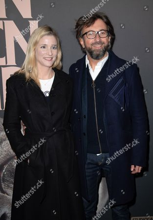 Stock Picture of Natacha Regnier and Alex Jaffray attend premiere at UGC Normandie