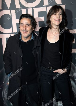 Yvan Attal and Charlotte Gainsbourg attend premiere at UGC Normandie