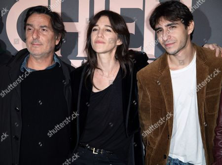 Yvan Attal, Charlotte Gainsbourg and Ben Attal attend premiere at UGC Normandie