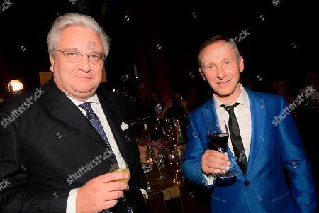 Prince Laurent of Belgium and Helmut Lotti