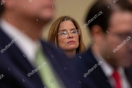 Stock Image of Mayor of the City of San Juan Carmen Yulin Cruz Soto listens during a U.S. House Committee on Natural Resources Hearing.