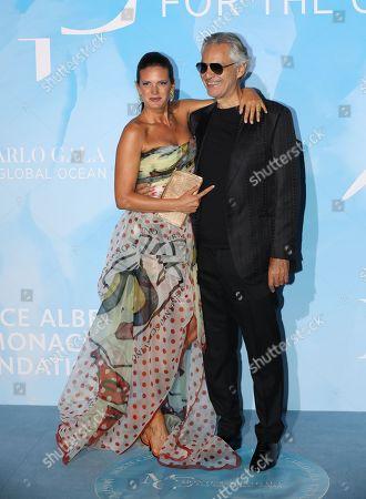 Stock Image of Veronica Berti and Andrea Bocelli