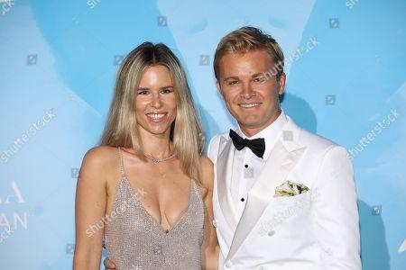 Stock Photo of Vivian Sibold and Nico Rosberg