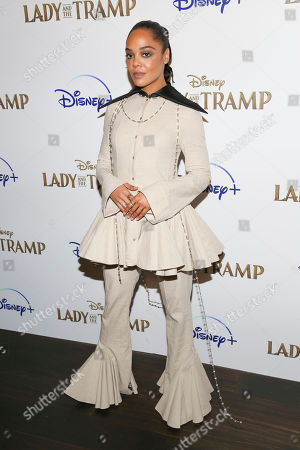 """Tessa Thompson attends a special screening of """"Lady and the Tramp"""", hosted by Disney+ and The Cinema Society, at iPic Theater, in New York"""