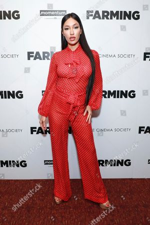 "Kea Ho attends the special screening of ""Farming"", hosted by Momentum Pictures and The Cinema Society, at Village East Cinema, in New York"