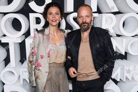 Maggie Gyllenhaal, Peter Sarsgaard. Maggie Gyllenhaal and Peter Sarsgaard attend the Nordstrom NYC Flagship store opening party, in New York