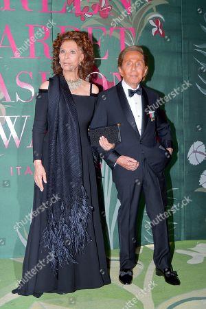 Sophia Loren and Valentino