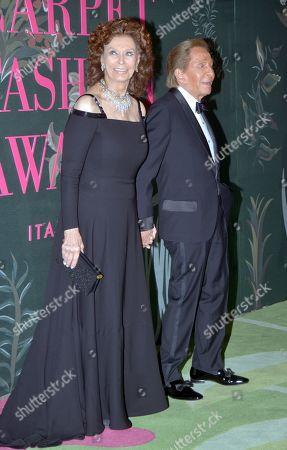 Stock Photo of Sophia Loren and Valentino