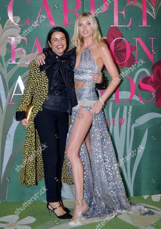 Veronica Etro and Elsa Hosk
