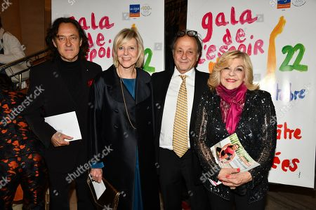 Jean Christophe Molinier, Chantal Ladesou and guests
