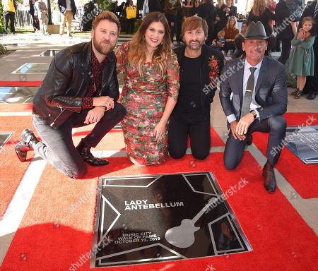 Lady Antebellum, Charles Kelley, Hillary Scott, Dave Haywood and Tim McGraw