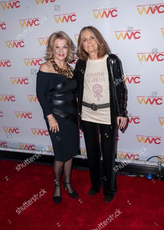 Pat Mitchell, left, and Gloria Steinem attend the 2019 Women's Media Awards, hosted by The Women's Media Center, at the Mandarin Oriental New York, in New York