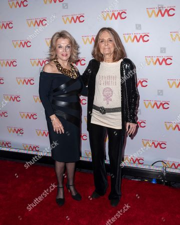 Stock Image of Pat Mitchell, left, and Gloria Steinem attend the 2019 Women's Media Awards, hosted by The Women's Media Center, at the Mandarin Oriental New York, in New York