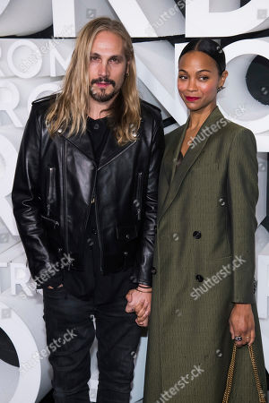 Zoe Saldana, Marco Perego. Marco Perego and Zoe Saldana attend the Nordstrom NYC Flagship store opening party, in New York