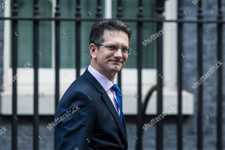 Steve Baker, Chairman of the European Research Group (ERG) leaving today's Cabinet Meeting at Downing Street