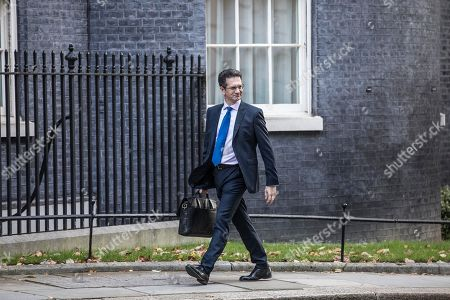 Steve Baker, Chairman of the European Research Group (ERG) arrives for today's Cabinet Meeting at Downing Street