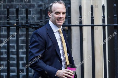 Dominic Raab MP, Secretary of State for Foreign and Commonwealth Affairs, First Secretary of State arrives for today's Cabinet Meeting at Downing Street.