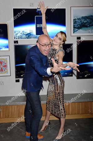 Chief Marketing Officer of Samsung Europe Benjamin Braun and Cara Delevingne