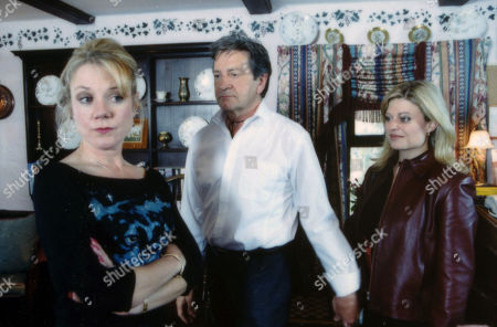 Ep 2947 Wednesday 27th June 2001 Carol is unimpressed when Louise arrives at the B&B and Rodney invites her to spend the night with him. With Carol Wareing, as played by Helen Pearson; Rodney Blackstock, as played by Patrick Mower ; Louise Appleton, as played by Emily Symons.