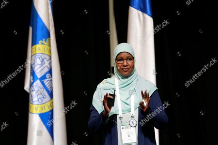 Dean of College of Petroleum Engineering and Technology of Sudan university Tagwa Ahmed Musa takes part in the panel 'Women in Engineering and Stem' at the Global Engineering Dean's Council held in Santiago de Chile, 22 October 2019 (issued 23 October 2019). The Global Engineering Deans Council?s vision is to enhance the capabilities of engineering deans to transform schools in support of societies in a global economy.