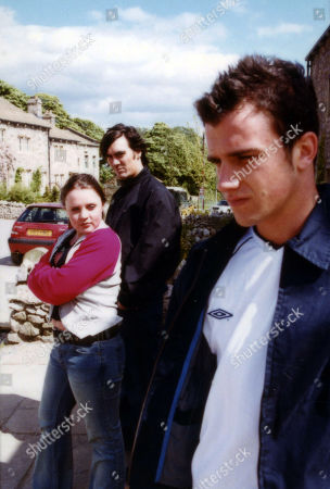Ep 2953 Thursday 5th July 2001 Cain scares of Ben for Ollie. With Ollie Reynolds, as played by Vicky Binns ; Cain Dingle, as played by Jeff Hordley ; Ben McCarthy, as played by Ciaran Griffiths.