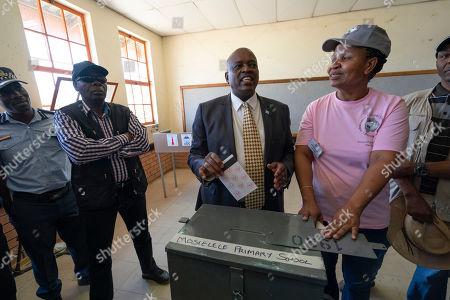 Seretse Khama Ian Khama. Botswana President Mokgweetsi Masisi votes in Botswana's general elections in Moshupa, some 45kms (30 miles) West of Gaborone . Botswana's ruling party the BDP (Botswana Democratic Party) faces the tightest election of its history