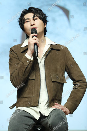 Stock Photo of South Korean singer 'Car, the Garden' answers questions during a media event for the launch of his new album 'C' at a concert hall in Seoul, South Korea, 23 October 2019.