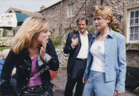 Ep 2978 Thursday 9th August 2001 Basking in her conquest of Andrew, Virginia is furious and slaps Tara. A fight develops and a humiliated Virginia is taken away in a police car. With Lady Tara Thornfield, as played by Anna Brecon ; Rodney Blackstock, as played by Patrick Mower ; Virginia West, as played by Bridget Fry.