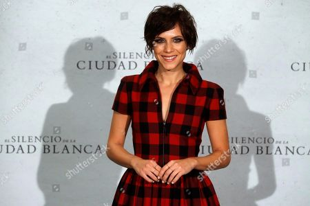 Stock Picture of Aura Garrido poses during the presentation of the film 'El Silencio de la Ciudad Blanca' (lit. The silence of the white city) in Madrid, Spain, 23 October 2019.