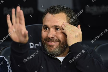 Real Valladolid head coach Sergio Gonzalez on the bench before the kick off