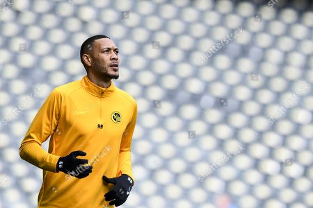 Young Boys' Guillaume Hoarau in action during a training session at the Stade de Suisse in Bern, Switzerland, 23 October 2019. BSC Young Boys Bern with face Feyernoord Rotterdam in the UEFA Europa League on 24 October.