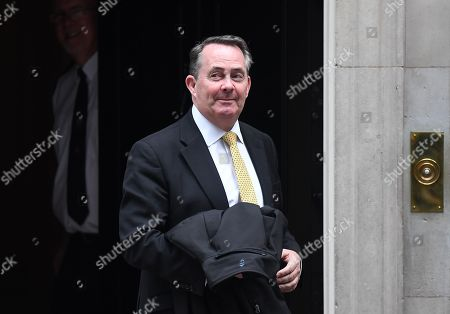 Former Secretary of State for International Trade Liam Fox departs 10 Downing Street in London, Britain, 23 October 2019.