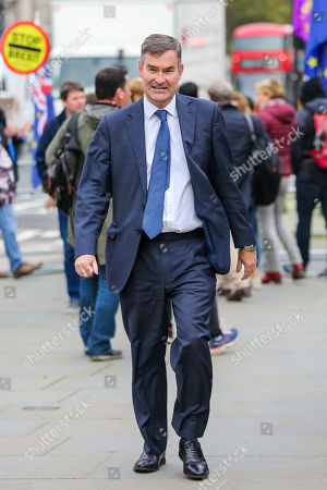Former Justice Secretary David Gauke is seen outside The Houses of Parliament in Westminster