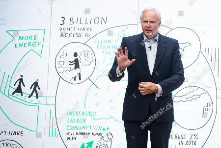 CEO of BP Bob Dudley speaks during a session at the One Young World Summit at the Methodist Hall in London, Britain, 23 October 2019. Over 2,000 young people from over 190 countries gathered for the One Young World Summit, a global forum for young leaders, aiming to create the next generation of more responsible and effective leaders.