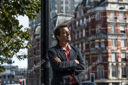 Oliver Bullough the author of 'Moneyland' in Knightsbridge, London