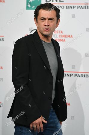 Vinicio Marchioni poses during a photocall for 'Il terremoto di Vanja - Looking for Cechov' at the 14th annual Rome Film Festival, in Rome, Italy, 23 October 2019. The film festival runs from 17 to 27 October.