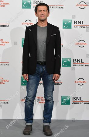 Stock Photo of Vinicio Marchioni poses during a photocall for 'Il terremoto di Vanja - Looking for Cechov' at the 14th annual Rome Film Festival, in Rome, Italy, 23 October 2019. The film festival runs from 17 to 27 October.