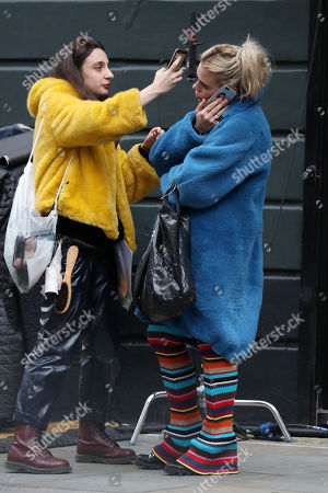 Stock Photo of Billie Piper on the set of 'I Hate Suzie'