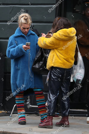 Stock Image of Billie Piper on the set of 'I Hate Suzie'