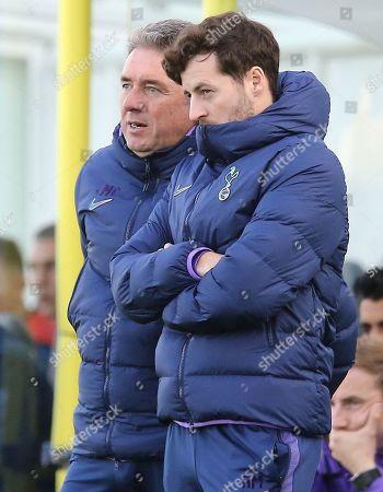 John McDermott Coach of Tottenham Hotspur and Ryan Mason Tottenham Hotspur  academy coach