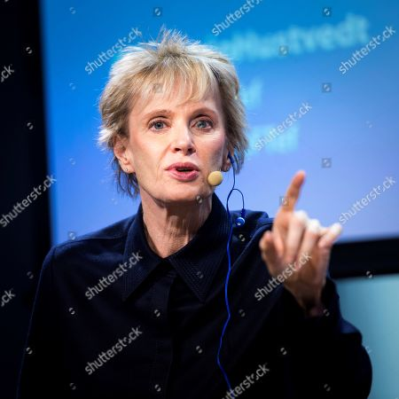 US writer winner of the 2019 Princess of Asturias Literature Award, Siri Hustvedt, takes part in a debate on feminism at Telefonica Foundation in Madrid, Spain, 23 October 2019.