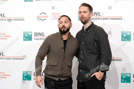 """Actor Matias Varela poses with director Jasper Ganslandt during the photo call of the movie """"438 Dagar"""", at the 14th edition of the Rome Film Festival"""