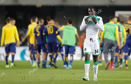 Sassuolo's Pedro Obiang at the end of the game.