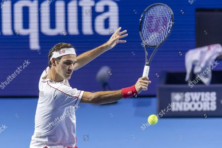 Editorial image of Swiss Indoors tennis tournament in Basel, Switzerland - 23 Oct 2019