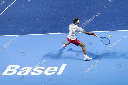 Editorial photo of Swiss Indoors tennis tournament in Basel, Switzerland - 23 Oct 2019