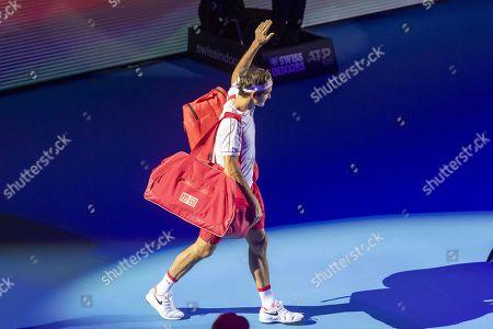 Editorial picture of Swiss Indoors tennis tournament in Basel, Switzerland - 23 Oct 2019